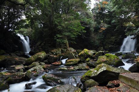 熊本県小国黒川温泉夫婦滝