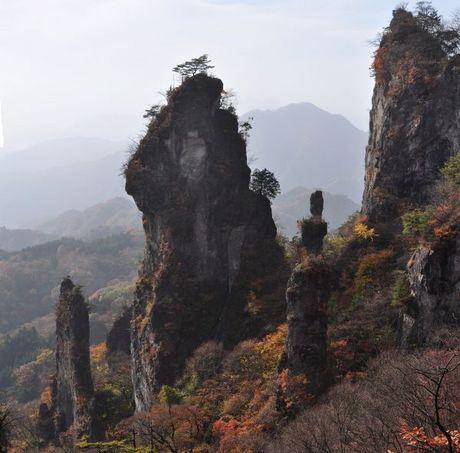 群馬県妙義山登山石門写真画像