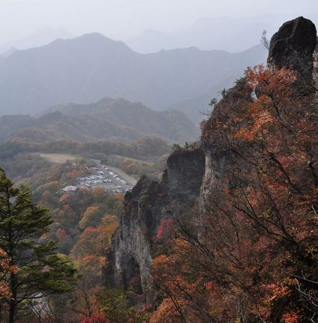 群馬県妙義山石門ひぐらしの景写真