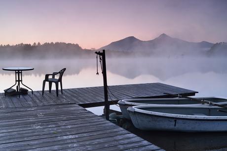 檜原湖からの磐梯山