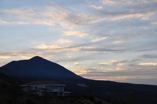 鹿児島県霧島道の駅にて朝焼け画像