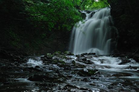 群馬県北軽井沢浅間大滝写真