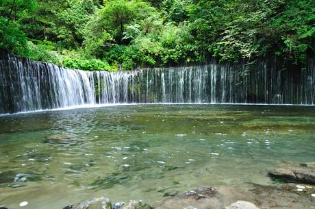 長野県北軽井沢白糸の滝画像