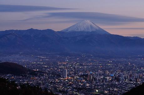 山梨県富士山撮影スポット甲府夜景