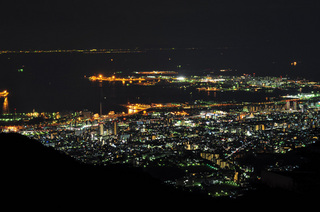 兵庫県神戸市六甲山夜景画像