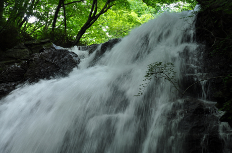 群馬県長野原町浅間大滝写真