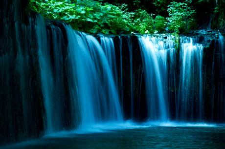 長野県軽井沢白糸の滝レタッチ写真現像