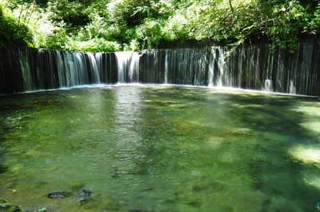 長野県軽井沢白糸の滝写真
