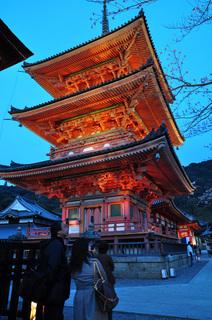 京都清水寺三重塔画像