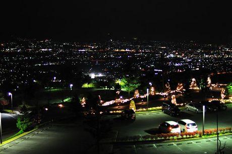 山梨県笛吹フルーツ公園夜景画像