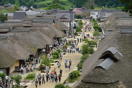 福島県大内宿写真