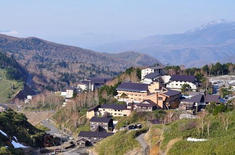 群馬県吾妻郡嬬恋村万座写真国道最高点