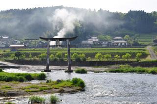 大分県道の駅原尻の滝画像