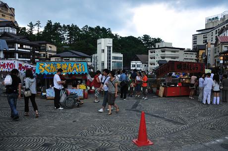 群馬県草津温泉湯畑祭り画像