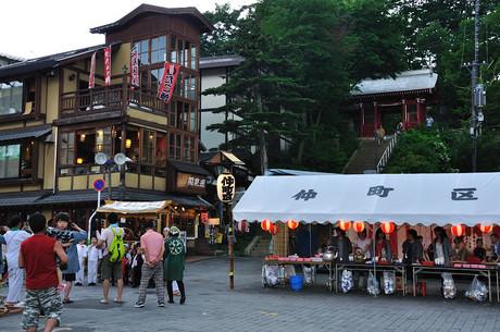 群馬県草津湯畑祭り写真