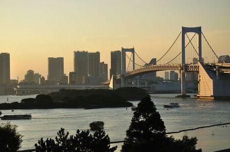 東京お台場レインボーブリッジ夜景